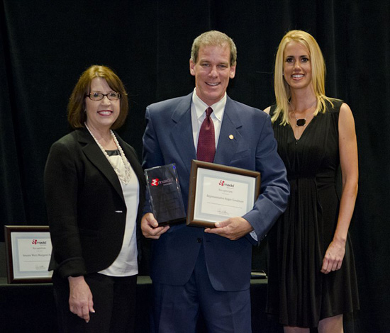 Roger receiving the MADD Award