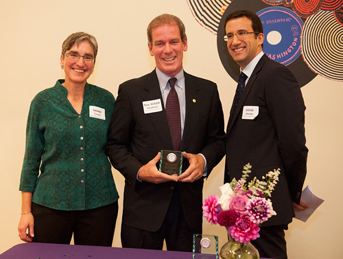 Roger receiving the Maleng Award